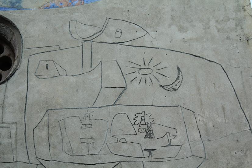 Sa Itria - Dettaglio facciata - Figura maschile